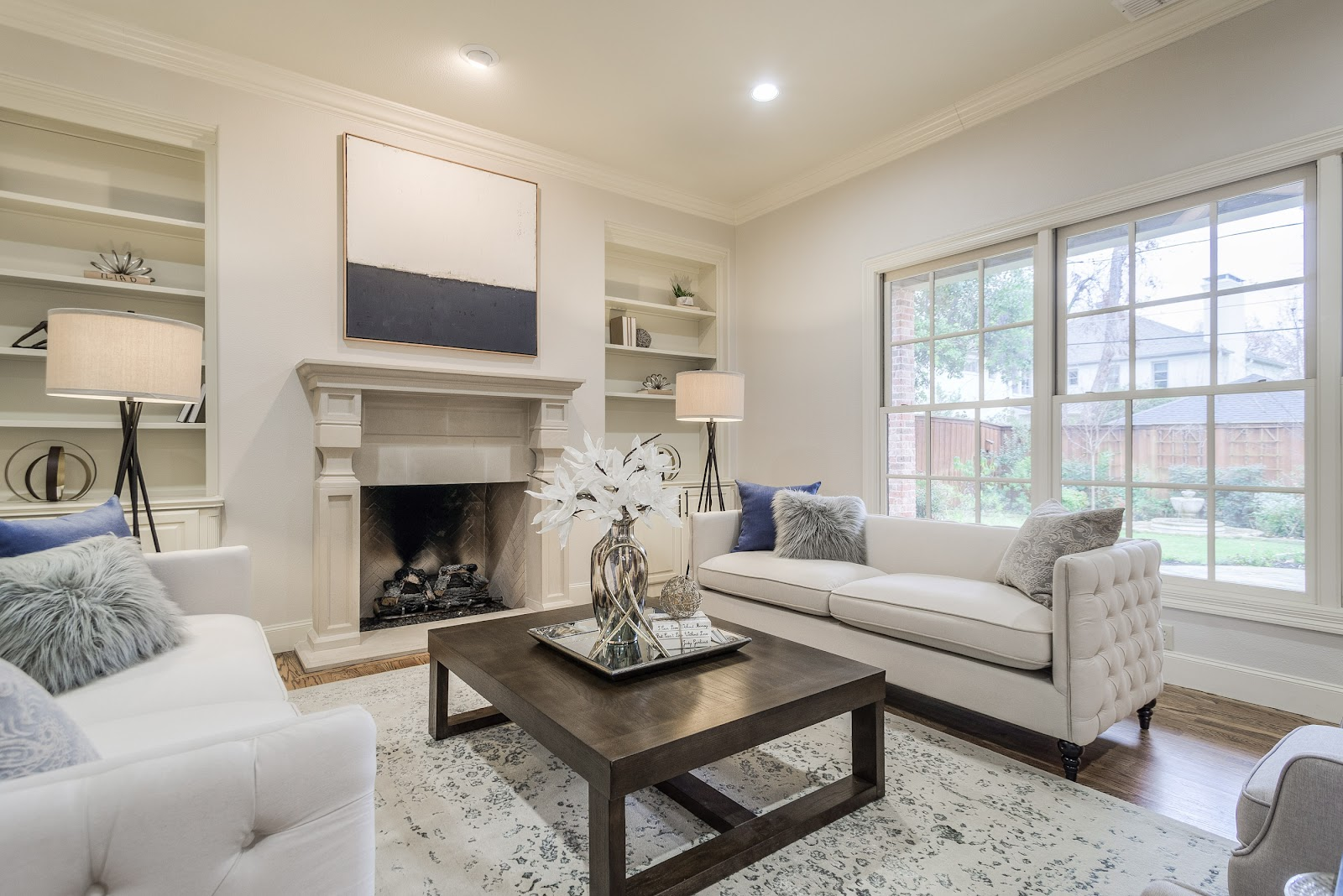 after living room design by keti west highland park dallas home renovation and staging