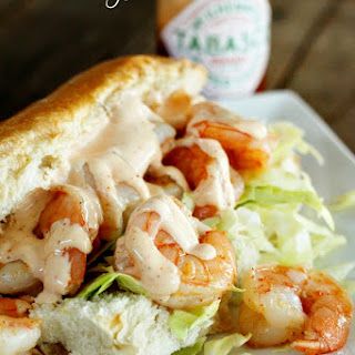 Shrimp Po Boys with Creamy Cajun Sauce.