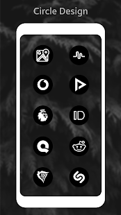Pixel 9.0 Pie Dark Black AMOLED UI - Icon Pack Screenshot