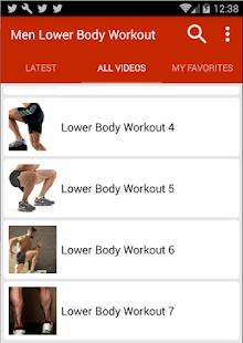 Lower Body Workout For Men APK ScreenShots