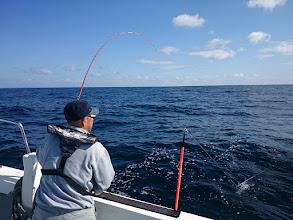 Photo: マイボートでやっていただけあって 慣れた手つきでどんどんヒット!