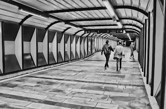 Photo: Day 241 / June 9, 2012 Nationaltheatret Metro Station in Oslo, Norway  ノルウェーの首都オスロのナショナルテアートレ駅 地下鉄構内 ここは本当はかなりオレンジ色でカラフルですが、思い切って白黒 #creative366project