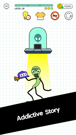 Happy Line Saga - Stop! Alien 1.1.8 app download 2