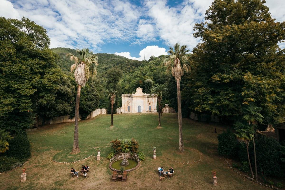 Il giardino della Villa di Corliano, Pisa