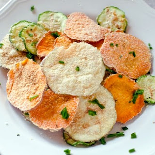 Sour Cream and Onion Veggie Chips! {Microwave}.