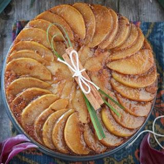 Cardamom Caramel Pear Upside Down Cake