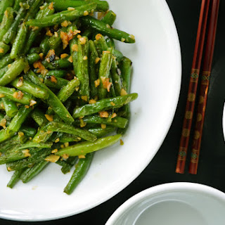 Chinese Stir Fried Green Beans with Garlic Recipe