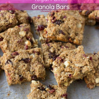 Pomegranate Yogurt Bites Granola Bars