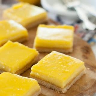 Lemon Bars Recipe (Paleo, Clean Eating, Gluten Free)