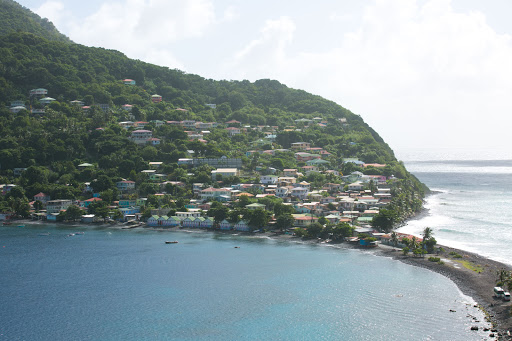 Dominica-harbor.jpg - The harbor of Roseau, Dominica, one of the most lush islands in the Caribbean.