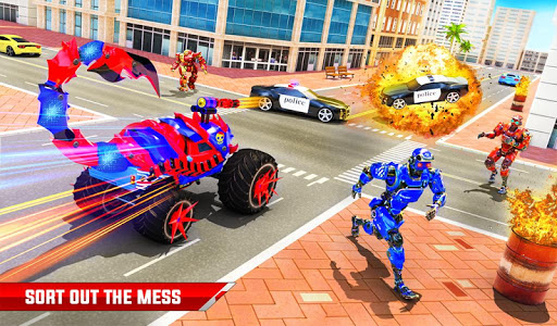 Scorpion Robot Monster Truck Transform Robot Games 9 screenshots 16