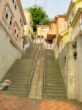Photo: 双子階段。建売なら二つ作らなくてもいいだろー。