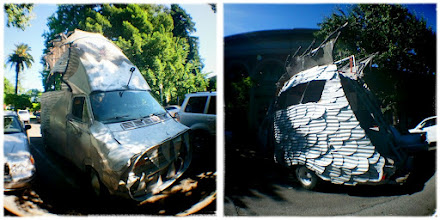 Photo: Two weeks ago I saw the strangest thing ... was it a truck, was it a fish???  Healdsburg, CA.  #FourWheeledFriday  +Akhil Kalsh +Annelies Kroen   Rather crappy shots but I was happy I had my little fisheye lens attachment for my phone with me, otherwise I would have not been able to get the whole vehicle into the pictures.