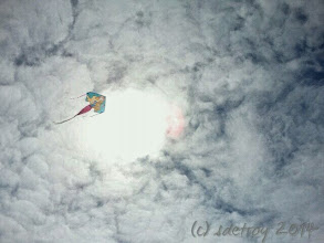 Photo: My heart is lifted by the clouds and the wind and the wonder of this kite.