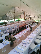 Photo: Wedding decor under the tent