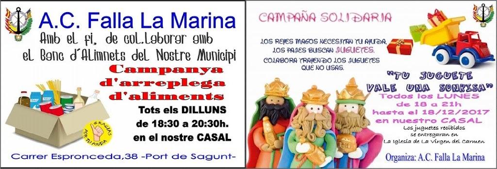 Campaña Solidaria en La Marina del Puerto de Sagunto