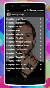 Coldplay Songs - náhled