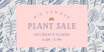 Mid Summer Plant Sale - Twitter Post Template