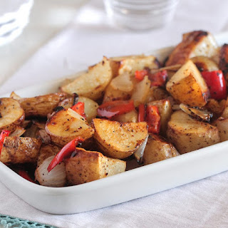 Oven Roasted Potatoes & Bell Pepper.