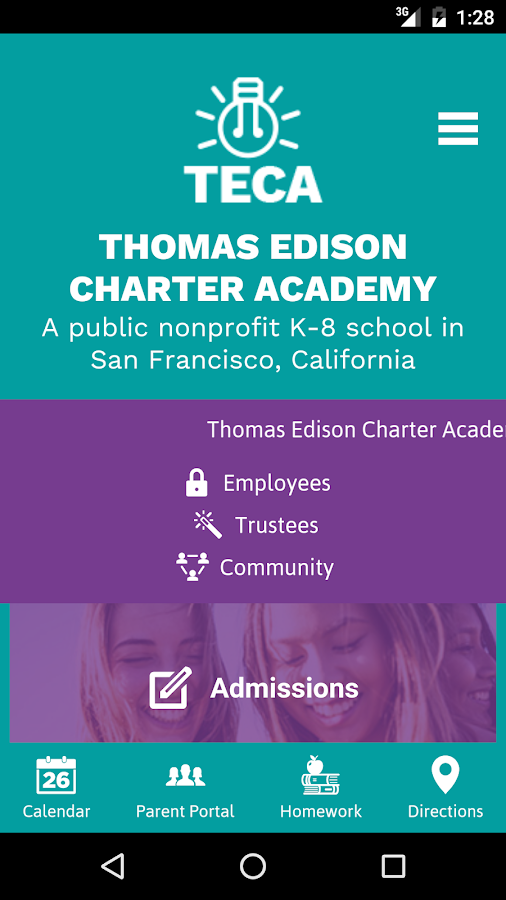 Thomas Edison Charter Academy- screenshot