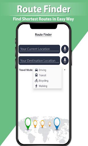 GPS Navigation Route Finder u2013 Map & Speedometer 1.0.6 screenshots 4