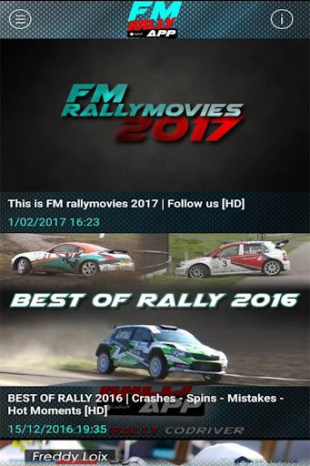 FM rally APP screenshot 3
