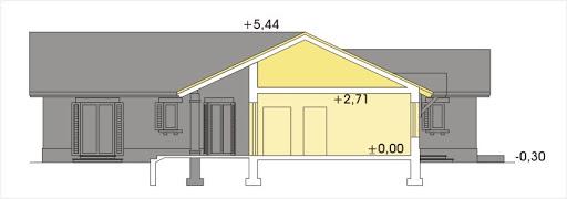 Gracja wersja B z podwójnym garażem powiększonym - Przekrój