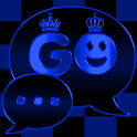 Blue Chess Crown GO SMS theme icon