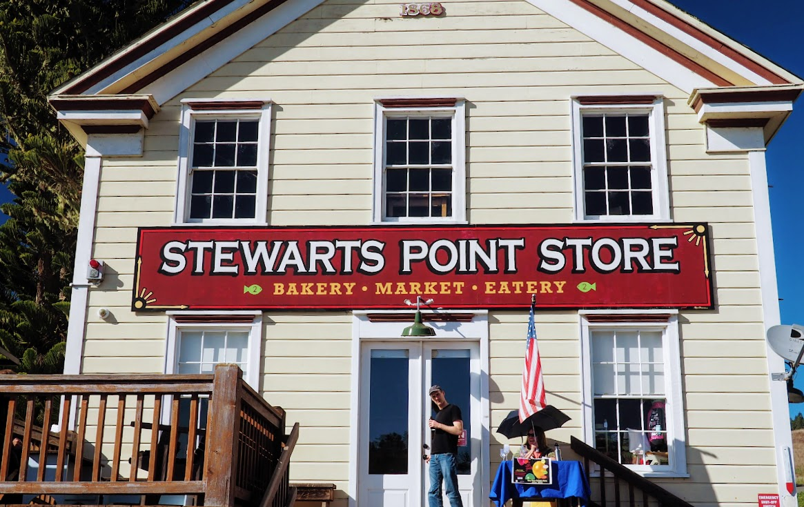 Stewarts Point Store. This building has been around since 1860.
