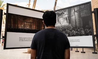 Estudiantes inaugura su muestra ante la Catedral