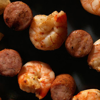 Grilled Shrimp-Boil Skewers