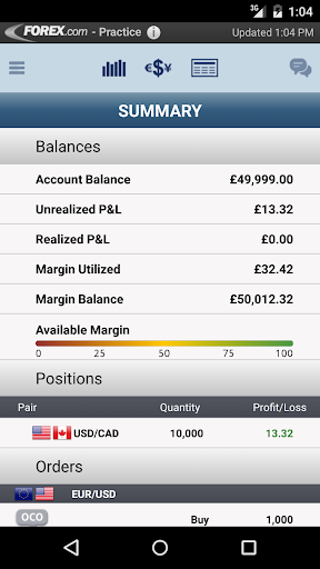 FOREX.com for Android