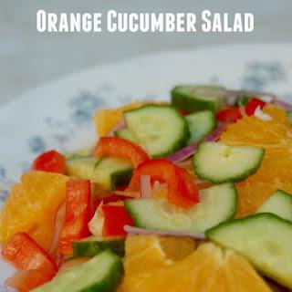 Weight Watchers Orange Cucumber Salad.