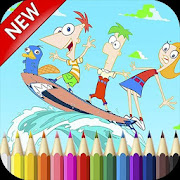 Phineas And Ferb Coloring Book