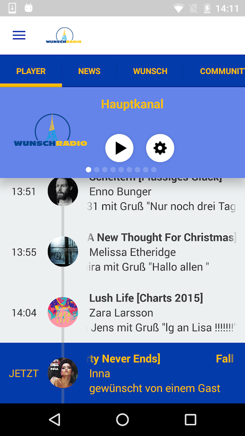 wunschradio- screenshot