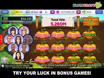 SLOTS GRAPE - Free Slots and Table Games - náhled