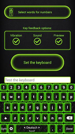 键盘主题 霓虹灯