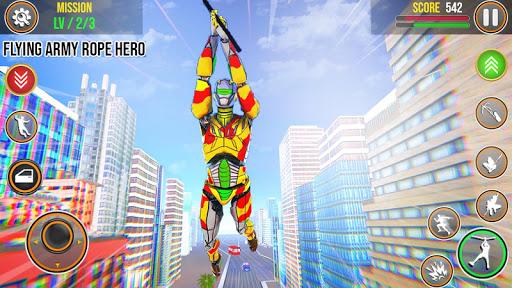 Army Robot Rope hero u2013 Army robot games 2.0 screenshots 1