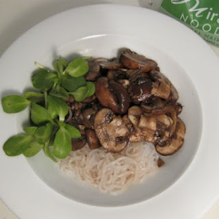 Miracle Noodles & Marinated Mushrooms