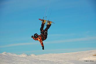 Photo: Garrett tries a deadman with a high depower kite