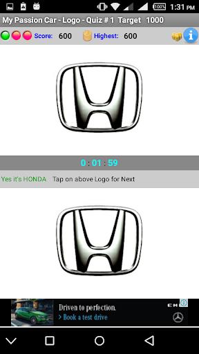 My Passion Car- Logo Quiz Game 2.7 screenshots 3