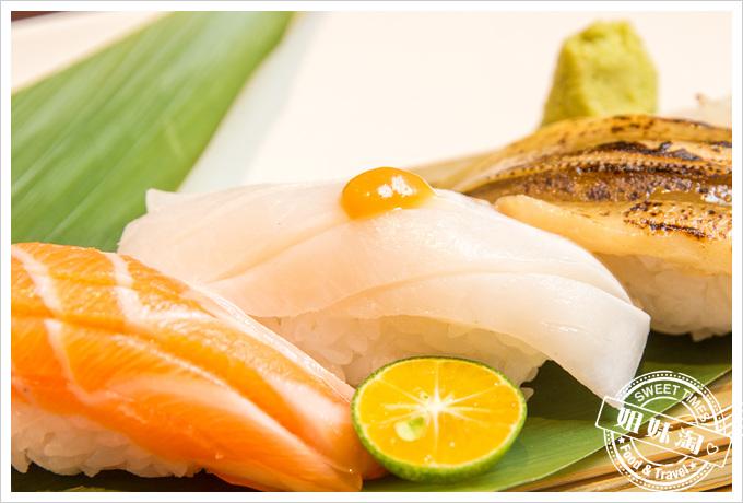 碳鰭日式家庭料理海鱺握壽司