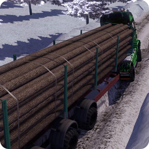 Truck Diver Cargo Simulation - Winter Snow Weather