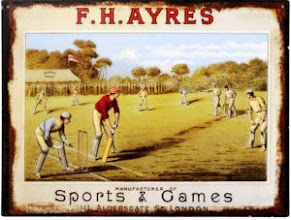 Photo: An enameled tin-plate advertising plaque by FH Ayres. The firm was clearly not above promoting its name in other areas - why not with chess? It also stamped its name on its golf clubs from the same era, and many of it's other wares .