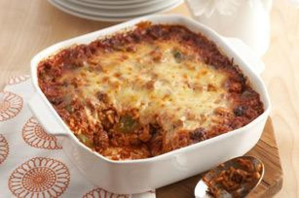 Cheesy Stuffed Pepper Casserole Recipe
