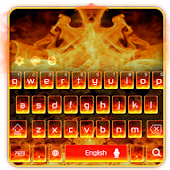 Flame fire keyboard