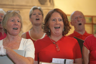 Photo: Key Voices singing in Priston Church © Anna Barclay 2008
