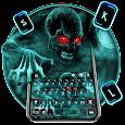 Green Zombie Skull 2 Keyboard Theme