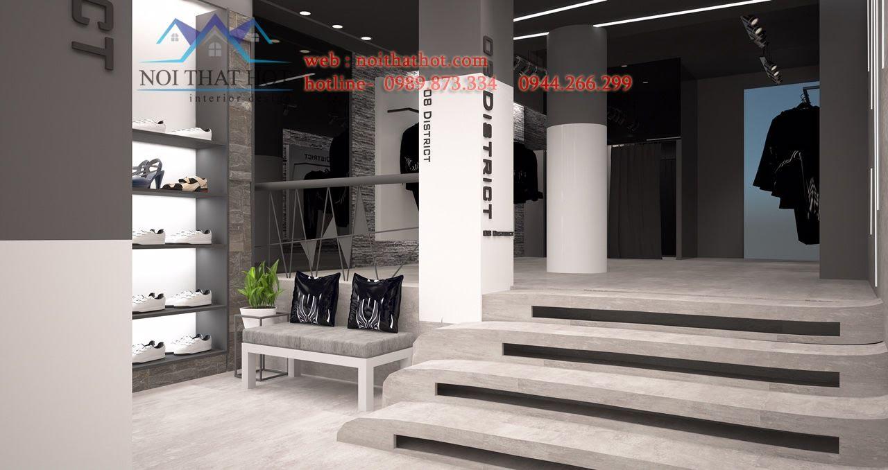 thiết kế shop thời trang 70m2