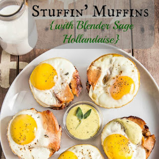 Egg, Turkey & Stuffin' Muffins {with Blender Sage Hollandaise}